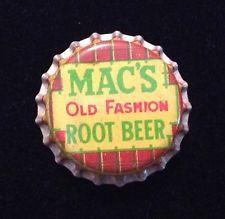 MACS ROOT BEER soda bottle cap cork unused