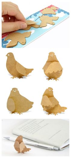 Neat paper hens