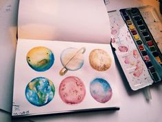 provocative-planet-pics-please.tumblr.com #planets#becreative#aquarell#is#my#love#colorful#blue#green#yellow#red#orange#brown#watercolor#art#is#my#passion  by natalko_ https://instagram.com/p/9jF4gTmXjr/