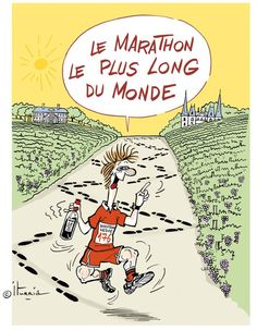 Marathon du Medoc. 26 mile fun run through Bordeaux wine country, with wine! Yup, this is happening.