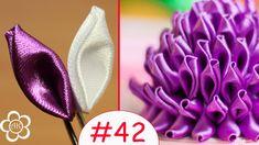 Базовые лепестки Канзаши #42  / Kanzashi Diy Lace Ribbon Flowers, Cloth Flowers, Ribbon Art, Diy Ribbon, Fabric Ribbon, Ribbon Crafts, Flower Crafts, Fabric Flowers, Kanzashi Tutorial