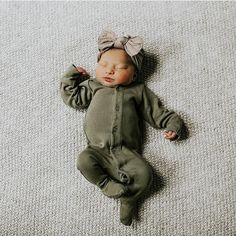 Brand New Babe!  @elliecoleeee  spearmintLOVE.com baby girl is 7 lb. 19 oz. & is wearing a newborn footie! Tap to shop!
