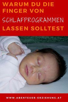 Finger weg von Schlafprogrammen - weil kein Baby schlafen lernen muss!