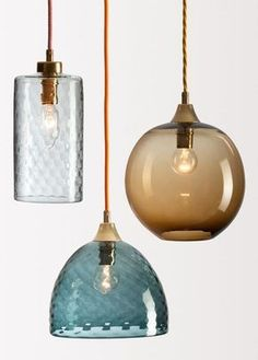 The charm of Rothschild & Bickers starring at designjunction - Traditional blown for contemporary lighting // Lampen aus Glas Kitchen Lighting, Home Lighting, Lighting Design, Pendant Lighting, Pendant Lamps, Deco Luminaire, Mid Century Lighting, Brass Lamp, Light Design