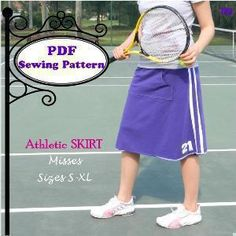 Download Athletic Skirt Sewing Pattern   Sewing Patterns   YouCanMakeThis.com