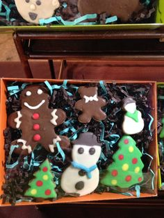 The perfect holiday gift for your furry loved ones! Holiday Dog Cookie Assortment from Sawyer's Pet Bakery