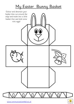 early play templates: Want to make a simple easter basket? Easter basket templates