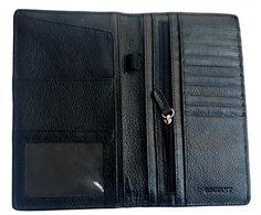 Genuine Leather Passport Cover Travel Wallet  Airline Ticket Holder Men  Womenblack * ** AMAZON BEST BUY **