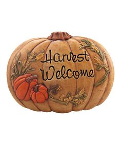 Take a look at this 'Harvest Welcome' Wall Plaque by Transpac Imports on #zulily today!