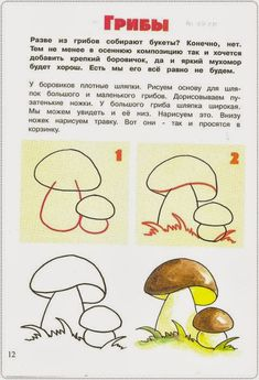 How to draw mushrooms Cute Doodles Drawings, Pencil Art Drawings, Easy Drawings, Learn To Draw Flowers, Zentangle For Beginners, Ocean Drawing, Mushroom Drawing, Basic Painting, Doodle Art Journals