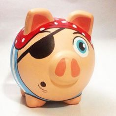 Boss Light Year, Fun Crafts For Kids, Arts And Crafts, Art Crafts, Pig Bank, Personalized Piggy Bank, Paper Mache Crafts, Cute Pigs, Pebble Painting