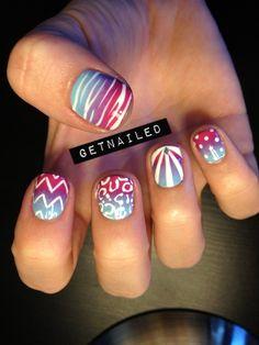 Nail, nail, nail / Gradients with various patterns.
