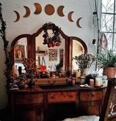 23 Clever DIY Christmas Decoration Ideas By Crafty Panda Witch Cottage, Witch House, My New Room, My Room, Witch Room, Wiccan Decor, Pagan Altar, Aesthetic Rooms, Kitchen Witch