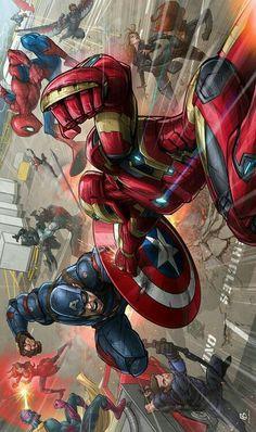 Guerra civil 1 marvel marvel comics, marvel avengers e marve Marvel Comics, Marvel Avengers Assemble, Marvel Comic Universe, Comics Universe, Marvel Art, Marvel Heroes, Marvel Cinematic Universe, Art Tumblr, Mundo Marvel