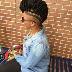 Black Mohawk Hairstyles, Dreadlock Hairstyles, Mohawk Styles, Updo Styles, Side Shave, Braids With Shaved Sides, Natural Hair Styles, Short Hair Styles, Natural Hair Treatments