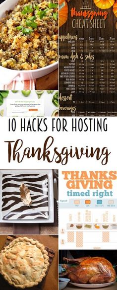 10 hacks for hosting a stress-free Thanksgiving! These Thanksgiving DIY hacks will help you host a successful event. #Thanksgiving #holiday #mealplanning #DIY via @lydioutloud
