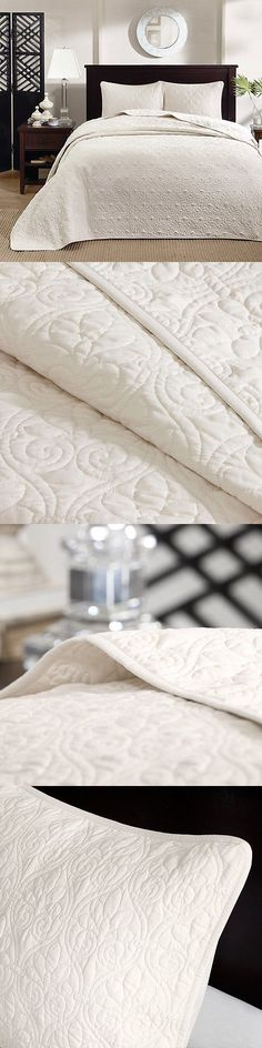 Quilts Bedspreads and Coverlets 175749: Ivory Matelasse 3Pc King Bedspread Set : Cotton Fill Quilt Coverlet Bedding -> BUY IT NOW ONLY: $129.95 on eBay!