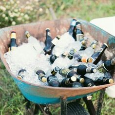 Beer in a wheelbarrel