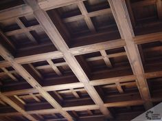 What are coffered ceilings? Pictures of old Spanish wood ceilings. | Carved Wood Ceilings