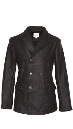 An all-wool version of the Billy Reid pea coat worn by Daniel Craig as James Bond.