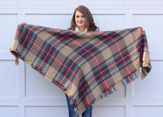 How To Tie A Blanket Scarf | Southern Curls & Pearls | Bloglovin'
