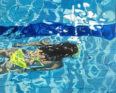 One of my paintings, Female Swimmer No. 05, 100x80 cm, acrylic on canvas