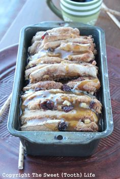 {Vegan} Brown Sugar Caramel Cranberry Walnut Pull Apart Loaf