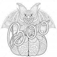 Display image coloring-adult-halloween-zentangle-bat