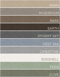 ⭐️⭐️⭐️Take any set of 3 of these colors and each room would be amazing. A palette for the whole house! ALL of these colors would make a beautiful living room! MINE!! (: