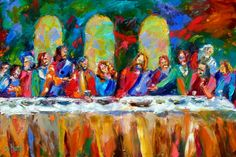 """ the last supper abstract 