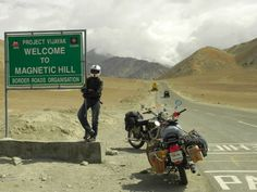 This was us at famous Magnetic Hill. We were travelinf from Leh towards Kargil #Travel #Howstuffworks