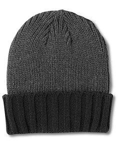 Alfani RED Hat, Contrast Cuff Beanie - Hats, Gloves & Scarves - Men - Macy's