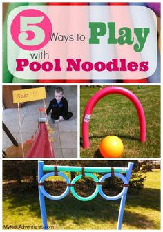 Pool noodles can inspire creativity and are lots of fun even on dry ground. You can use your noodle for games, toys and cool outdoor activities #MyKidsAdventures