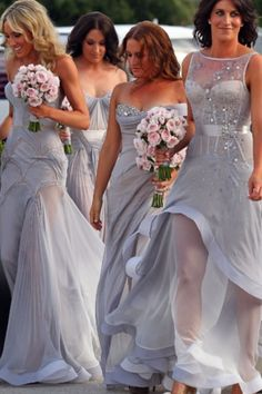 Bridesmaids !! I want my bridesmaids to look elegant and feel comfortable and beautiful...