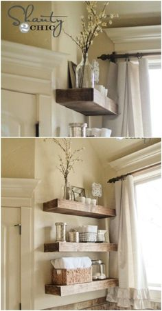Simple rustic shelves - 50 Decorative Rustic Storage Projects For a Beautifully Organized Home
