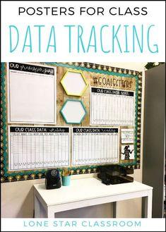 Data Tracker Pages and Posters – Student Data Folder – Editable Data Binder Class Data Poster – Data Binder – Datenverfolgung Classroom Data Wall, Stars Classroom, 5th Grade Classroom, Middle School Classroom, Classroom Design, Classroom Themes, Classroom Organization, Classroom Displays, Future Classroom