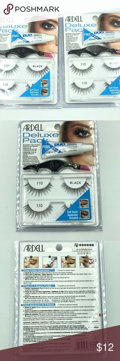 e6cb445615f TWO ARDELL Deluxe 110 Pack False Eye Lashes TWO - Deluxe Sets of Ardell  Eyelashes.