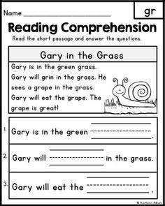 Teach Your Child to Read - FREE Reading Comprehension Passages - Word Families Blends - Give Your Child a Head Start, and.Pave the Way for a Bright, Successful Future. Reading Comprehension Passages, Reading Fluency, Reading Intervention, Kindergarten Reading, Reading Strategies, Reading Skills, Teaching Reading, Free Reading, Guided Reading