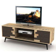 S'inspirant des contrées nordiques, le<strong> meuble tv ETHNICA</strong>, avec ses <strong>2 portes battantes</strong> et sa tablette apportera à votre intérieur une touche épurée et sobre parfaitement contemporaine ainsi qu'un bel espace de rangement.<br /><br />Un<strong> meuble tv design à l'esprit vintage</strong> en panneau de particules ...