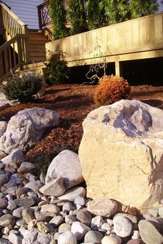 Boulders are great for creating atmosphere in a landscape...      'Like' Outdoor Dreams of Facebook and you will have constant access to our entire portfolio of inspired ideas. Additionally, we create new articles every week that are designed to provide our fans with helpful and creative tips for improving their landscapes. www.facebook.com/outdoordreams