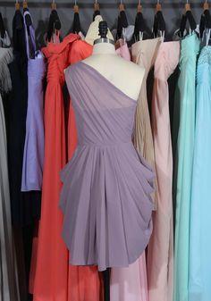 One Shoulder Chiffon Bridesmaid Dress Popular by harsuccthing