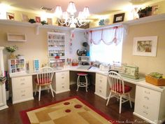 Our Home Away From Home: nicely organized craft room