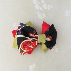 Hair Ribbons, Hair Bows, Kimono Design, Kanzashi, Diy Hair Accessories, Diy Hairstyles, Handmade Jewelry, Brooch, Japanese