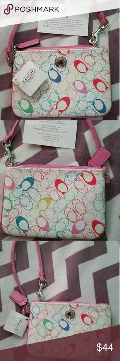 Brand new with tags COACH wristlet :) Never been used no flaws Coach Bags Clutches & Wristlets