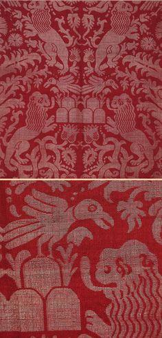 Antique Italian Textile, Silk Damask Brocade,  16th Century