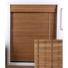 @Overstock.com - Oriental Ginger Bamboo Shades to filter the light Each home accessory is made with real bamboo and other environmentally friendly materials  Also known as woven wood and matchstick
