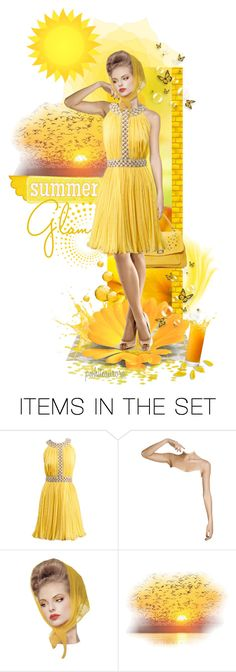 """Summer Glam"" by pwhiteaurora ❤ liked on Polyvore featuring art and vintage"
