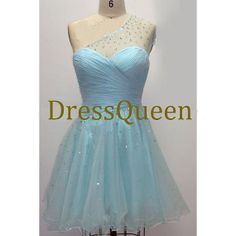 Hot sale cheap tulle with beads prom dress by DressQueenFactory, $99.00