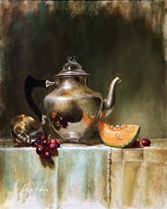Vintage Coffee Pot by LOIS EAKIN in the FASO Daily Art Show http://dailyartshow.faso.com/20150508/1753419