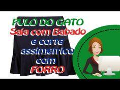 Saia Babado Godê Assimétrico - Corte no Forro - YouTube